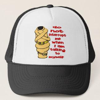 Straight Jacket Do Not Interrupt Me When I'm Talki Trucker Hat