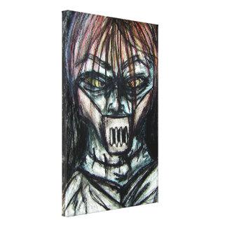 Straight Jacket Psycho Killer for Halloween Canvas Print