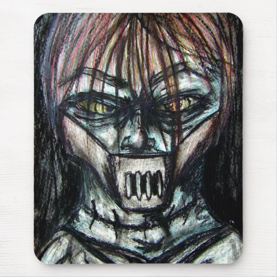 Straight Jacket Psycho Killer for Halloween Mouse Pad