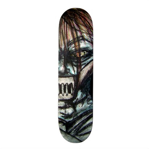 Straight Jacket Psycho Killer for Halloween Custom Skateboard