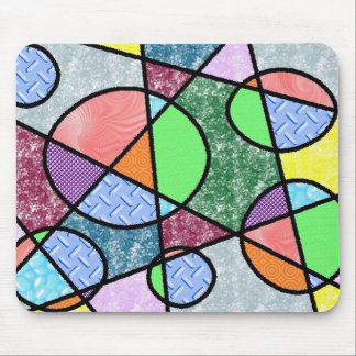 Straight Lines and Circles Abstract Mousepad
