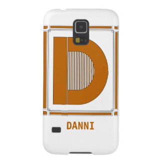 Straight lines art deco with monogram, letter D Cases For Galaxy S5