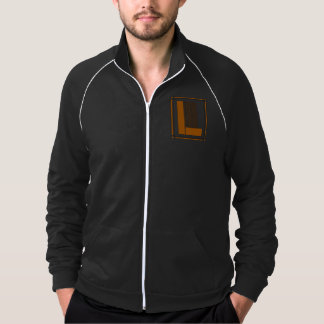 Straight lines art deco with monogram, letter L Jacket