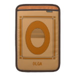 Straight lines art deco with monogram, letter O MacBook Sleeves