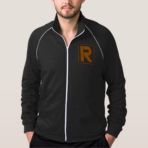 Straight lines art deco with monogram, letter R Jacket
