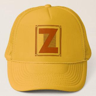 Straight lines art deco with monogram, letter Z Trucker Hat