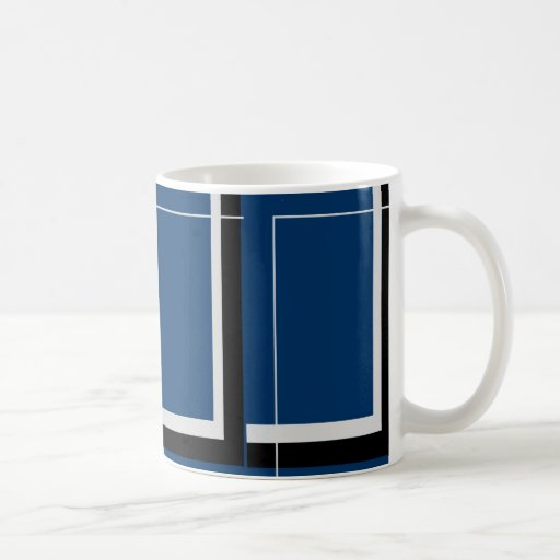 Straight Lines Classic White Coffee Mug