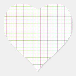 Straight Lines Heart Sticker