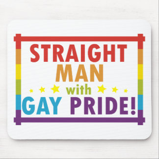 Straight Man with Gay Pride Mouse Pad
