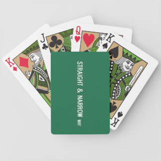 Straight & Narrow Way, Street Sign, NC, US Deck Of Cards