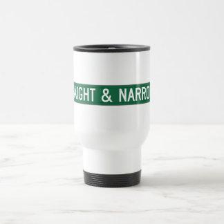 Straight & Narrow Way, Street Sign, NC, US Travel Mug