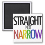 Straight not Narrow 2 Inch Square Magnet