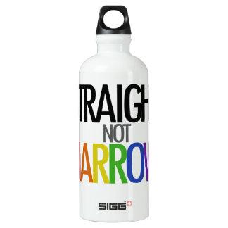 Straight not Narrow Aluminum Water Bottle