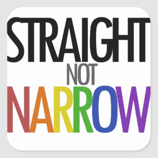 Straight not Narrow Square Sticker