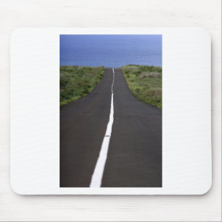Straight ocean road mouse pad