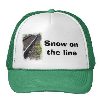 Straight on track trucker hat