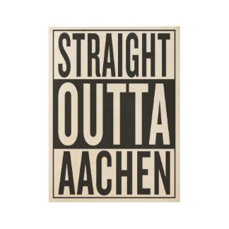 straight outta Aachen Wood Poster