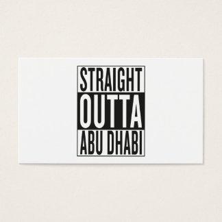 straight outta Abu Dhabi Business Card