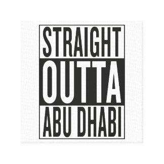 straight outta Abu Dhabi Canvas Print