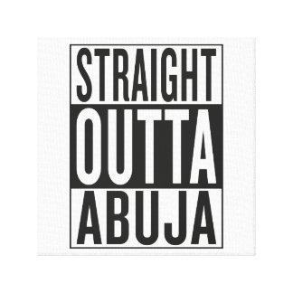 straight outta Abuja Canvas Print