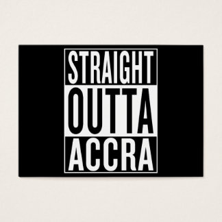 straight outta Accra Business Card
