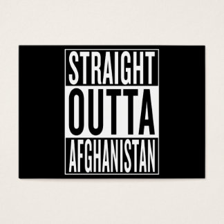 straight outta Afghanistan Business Card