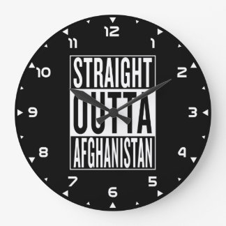 straight outta Afghanistan Large Clock
