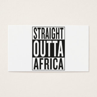 straight outta Africa Business Card