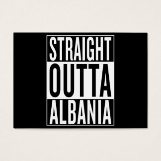 straight outta Albania Business Card