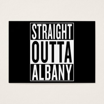 USA Themed straight outta Albany Business Card