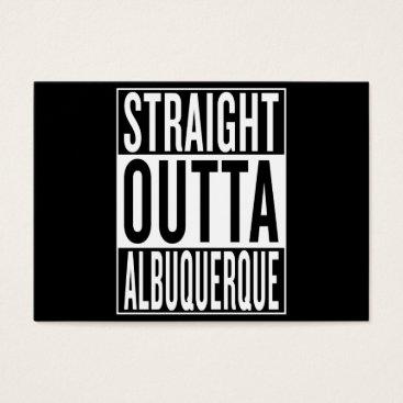USA Themed straight outta Albuquerque Business Card