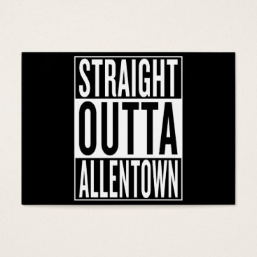 USA Themed straight outta Allentown Business Card