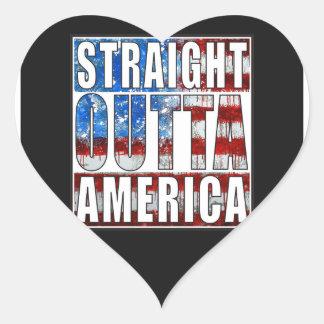 Straight Outta America.jpg Heart Sticker