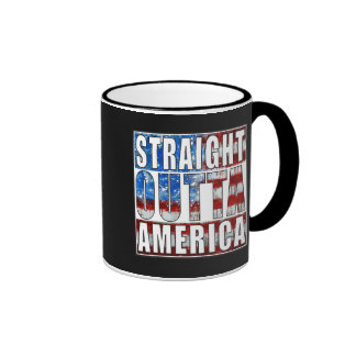 straight outta America.jpg Ringer Coffee Mug