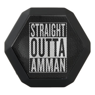 straight outta Amman Black Bluetooth Speaker