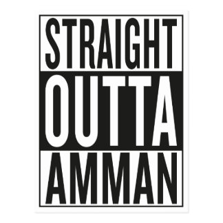 straight outta Amman Postcard