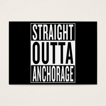 USA Themed straight outta Anchorage Business Card