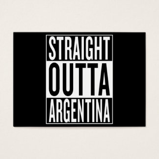 straight outta Argentina Business Card