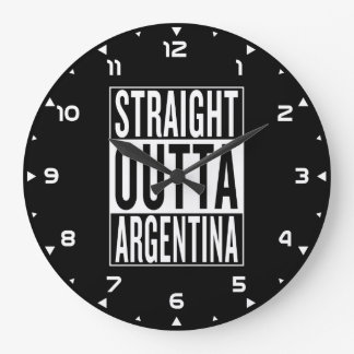 straight outta Argentina Large Clock
