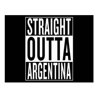 straight outta Argentina Postcard