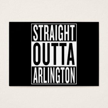 USA Themed straight outta Arlington Business Card