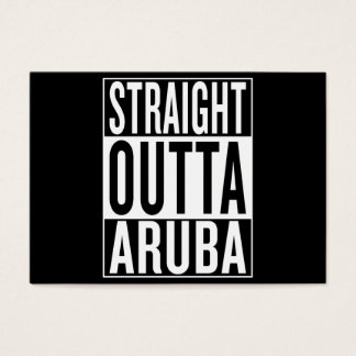 straight outta Aruba Business Card