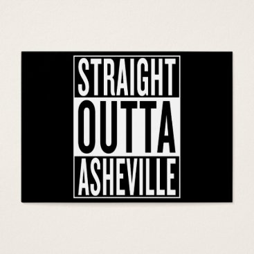 USA Themed straight outta Asheville Business Card