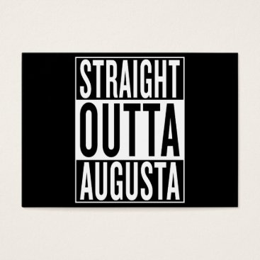 USA Themed straight outta Augusta Business Card
