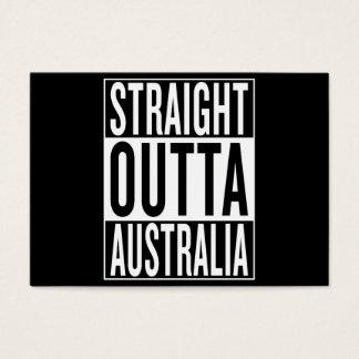 straight outta Australia Business Card