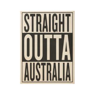 straight outta Australia Wood Poster