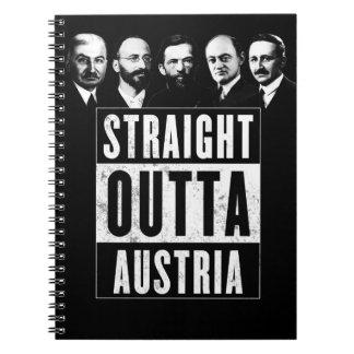 Straight Outta Austria Spiral Notebook