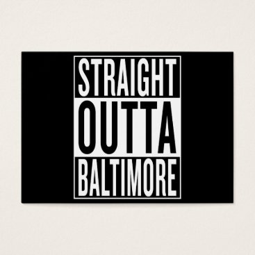 USA Themed straight outta Baltimore Business Card