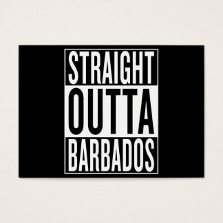straight outta Barbados Business Card