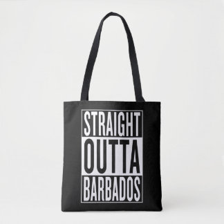 straight outta Barbados Tote Bag